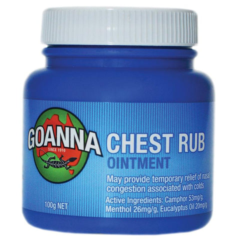 Goanna Chest Rub 100g