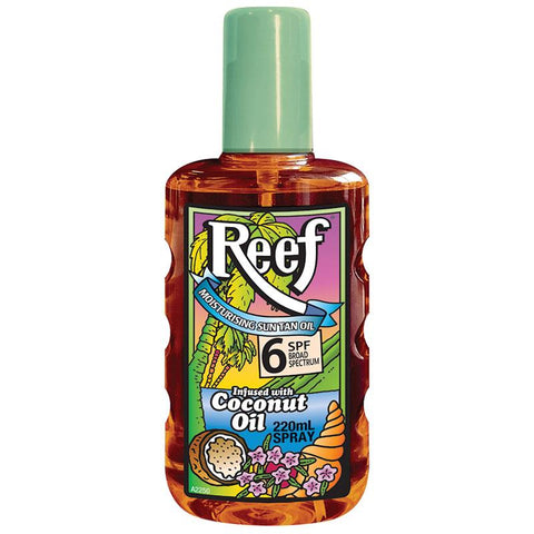 Reef Coconut Oil SPF6 Moisturising Oil Spray 220ml