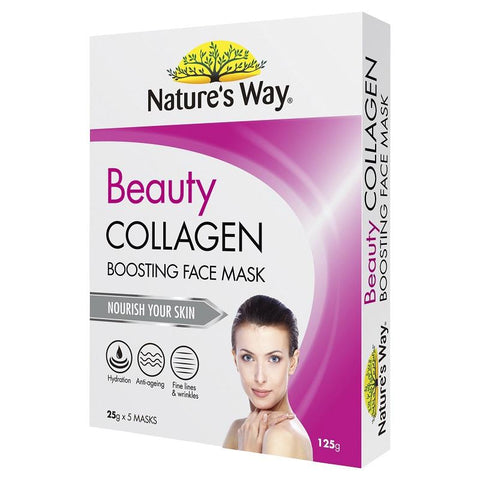 Nature's Way Beauty Collagen Face Mask 5 x 25g