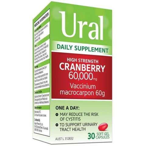 Ural High Strength Cranberry 60000mg 30 Capsules
