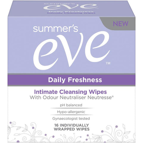 Summer's Eve Daily Freshness Intimate Cleansing Wipes - 16