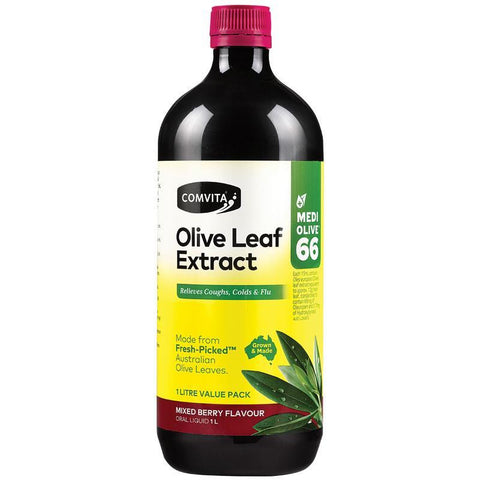 Comvita Olive Leaf Extract Mixed Berry Flavour 1 Litre
