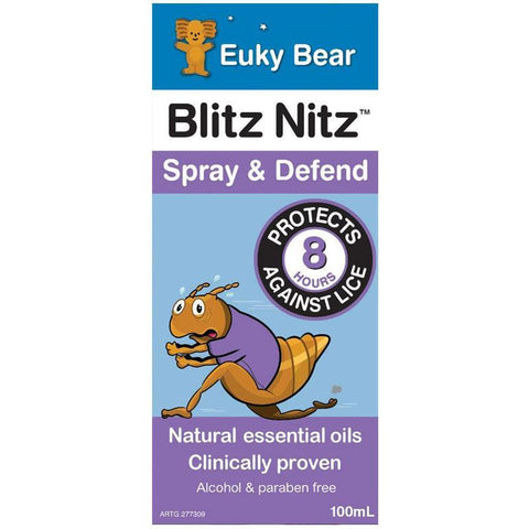 Euky Bear Blitz Nitz Spray & Defend 100ml