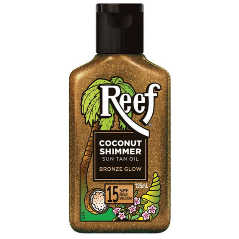 Reef Coconut Shimmer Oil Bronze Glow SPF15 125ml