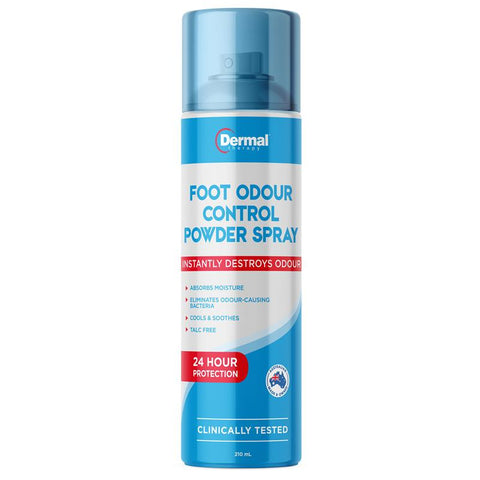 Dermal Therapy Foot Odour Control Powder Spray 210mL
