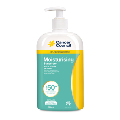 Cancer Council Moisturising 50+ Pump 500ml