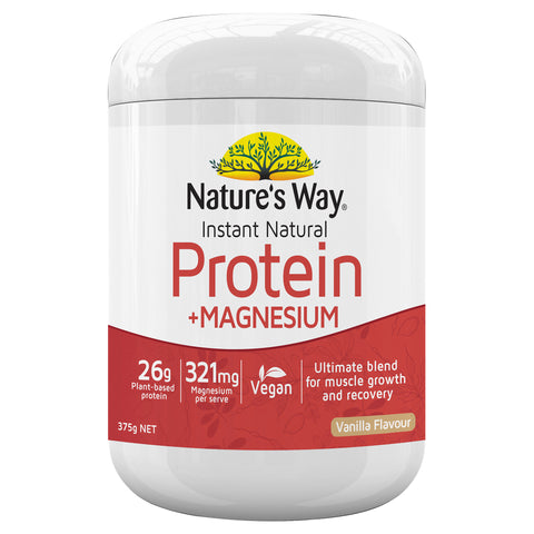 Nature's Way Instant Natural Protein +Magnesium 375g