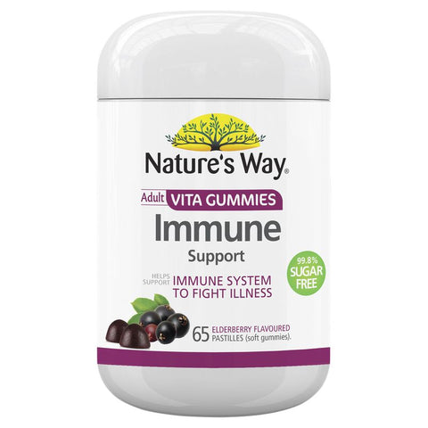Nature's Way Vita Gummies Adult Immune Sugar Free 65 Pastilles