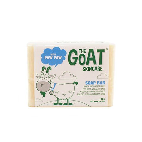 The Goat Skincare Soap Bar with Paw Paw - 100g Carton 12