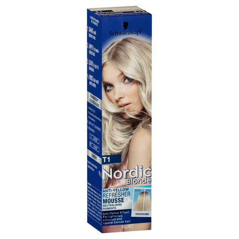 Schwarzkopf Nordic Blonde T1 Anti-Yellow Refresher Mousse 92g