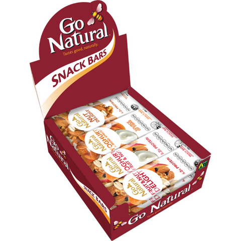 GO NATURAL SNACK BARS AUSTRALIAN MIXED BOX 16s