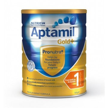 Aptamil Gold Plus 1 Infant Formula (0-6 Months) 900g