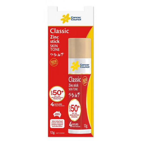 Cancer Council Classic SPF50+ Zinc Stick Skin Tone