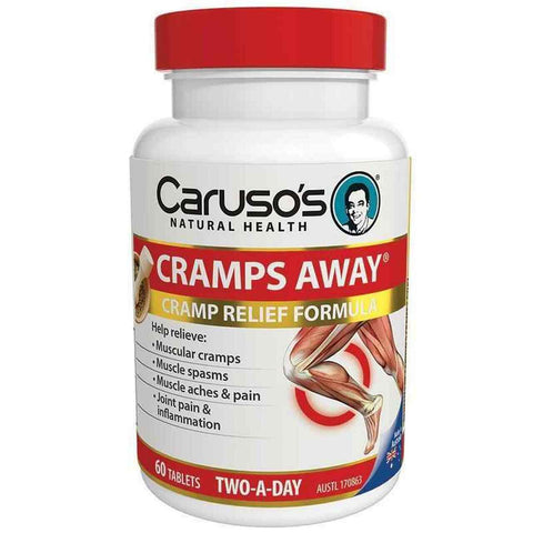 Carusos Natural Health Cramps Away 60 Tablets