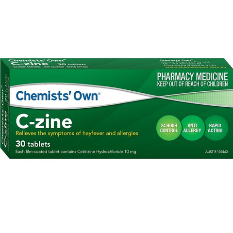 Chemists' Own C-Zine 10mg 30 Tabs (Generic for ZYRTEC)