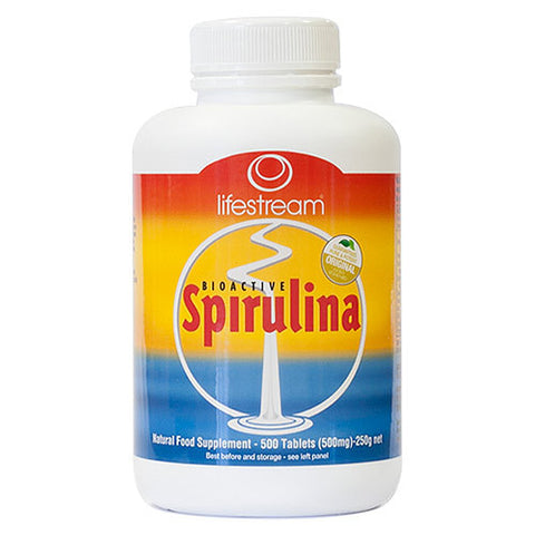 Lifestream Bioactive Spirulina 500mg Tab X 500