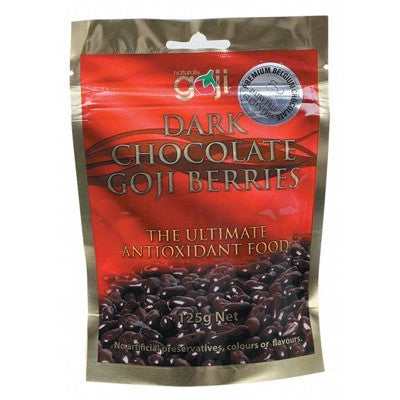Dark Choc Goji Berries 125g