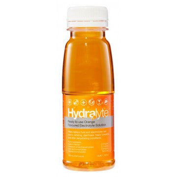 Hydralyte Electrolyte Solution Orange Flavoured 250ml