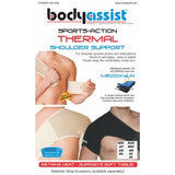 BA SPORTS THERMAL SHOULDER BRACE BLACK WITH FREE STABILIZER STRAP