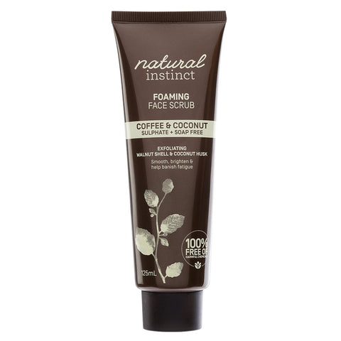 Natural Instinct Coffee + Coconut Foaming Face Scrub 125ml