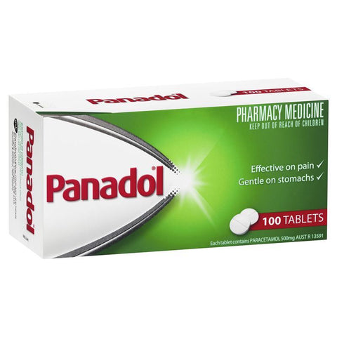 Panadol Paracetamol Pain Relief Tablets 500mg 100