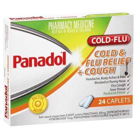 Panadol Cold And Flu Relief + Cough Caplets 24