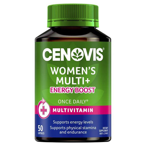 Cenovis Women's Multi + Energy Boost - Once-Daily Multivitamin - 50 Capsules