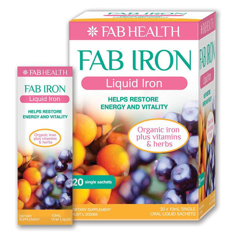 Fab Iron Liquid iron  Oral Liquid 20 Single (10ml)Sachets
