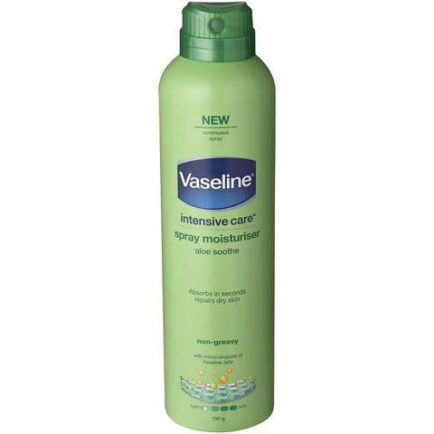 Vaseline Intensive Care Spray & Go Moisturiser Aloe 190g