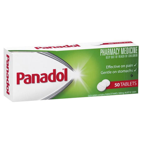 Panadol Paracetamol Pain Relief Tablets 500mg 50