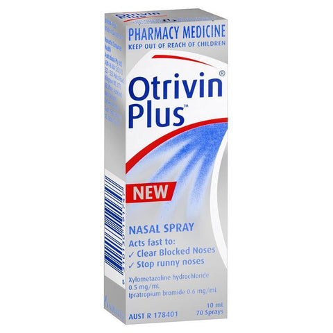 Otrivin Adult Plus Nasal Spray 10mL