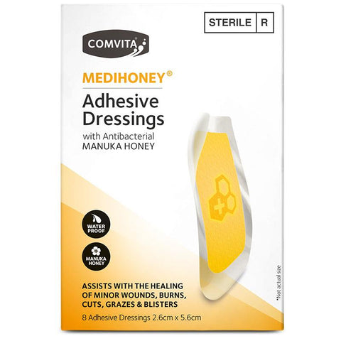 Medihoney Dressings Small 2.6cm x 5.6cm 8 Pack