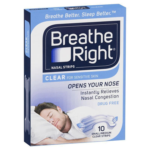 Breathe Right Nasal Strips Clear Regular X 10
