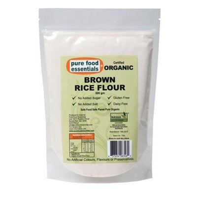 PURE FOOD ESSENTIALS Brown Rice Flour 500g
