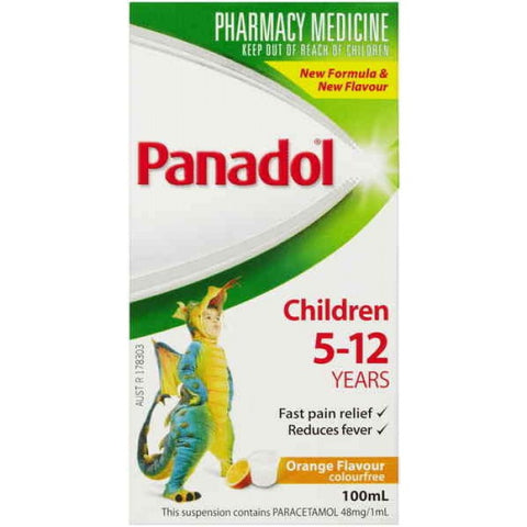 Panadol Children 5-12 Years Orange Flavour 100mL