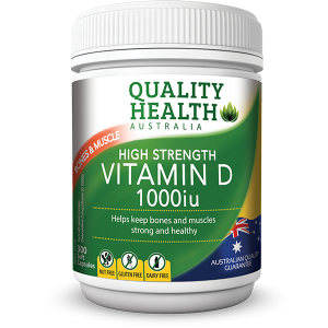 Quality Health High Strength Vitamin D 1000iu 300 Capsules