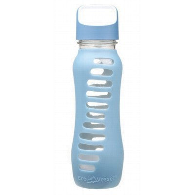 ECO VESSEL Glass Bottle Blue 650ml