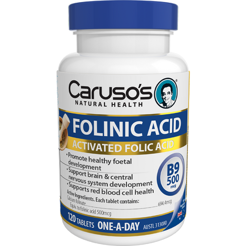 Caruso's Natural Health Folinic Acid 500mcg (B9)120 Tablets