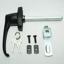 Black 360° Rotation Locking Door Handle hardware included