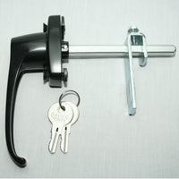 Black 360° Rotation Locking Door Handle assembled
