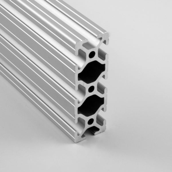 "1.0"" x 3.0"" Grooved T-Slotted Aluminum Extrusion"