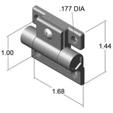 Plastic Adjustable Hinge
