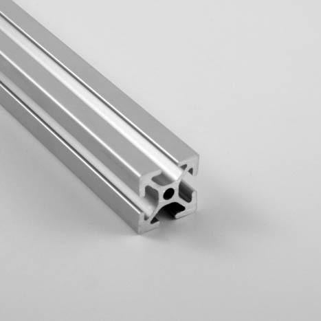 "1.0"" x 1.0"" Smooth T-Slotted Aluminum Extrusion"