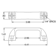 Small Door Handle dimensions