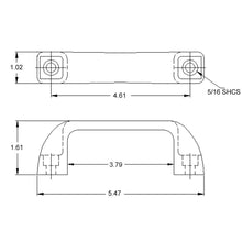 Medium Door Handle dimensions