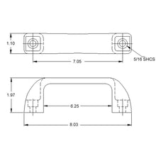 Large Door Handle dimensions