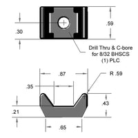 13AC7309 Universal Cable Tie Block dimensions