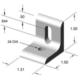 13AC7816 Table Top Mounting Bracket dimensions