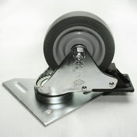 "13CA8118 4"" Triangle Top Plate Caster with Brake"