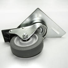 "13CA8118 4"" Triangle Top Plate Caster with Brake bottom"